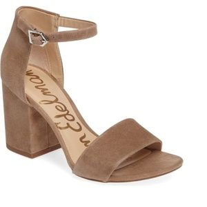 SAM EDELMAN Torrence Tan Open Toe Heeled Sandals